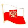 Pin, épinglette drapeau polonais, grand