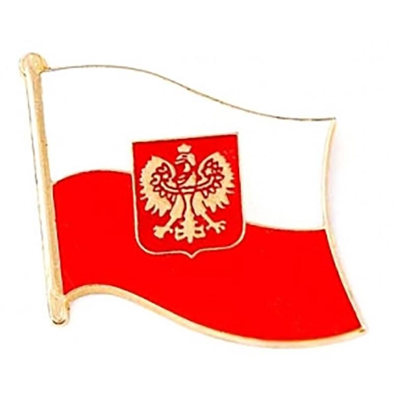 Przypinka, pin flaga Polski, duża