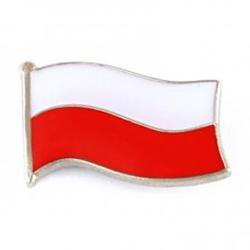 Knap, pin polsk flag, lille