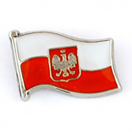 Pin, bandera, bandera polaca, mini