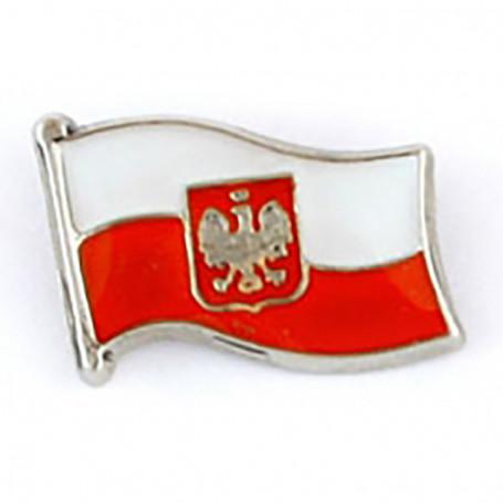 Przypinka, pin flaga Polski, mini