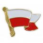 Przypinka flaga Polski, falująca