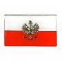 Przypinka flaga Polski z orłem, prosta