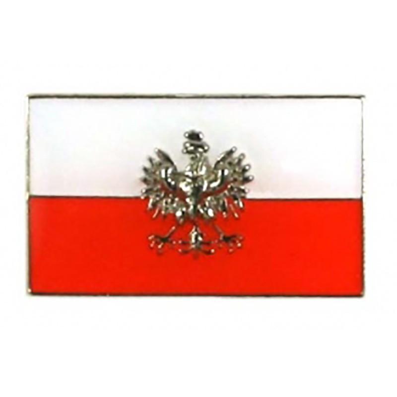 Botones Bandera polaca con un águila, simple