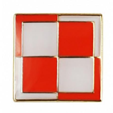 Przypinka, pin flaga szachownica