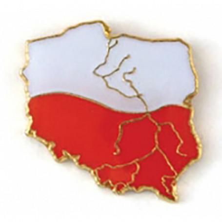 Przypinka, pin kontur Polski