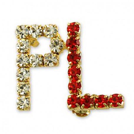 Pin, PL pin con cubic zirconia