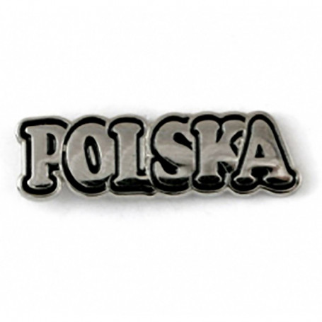 "Pin, pin la inscripción ""POLSKA"""