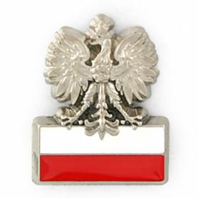 Pin águila con bandera