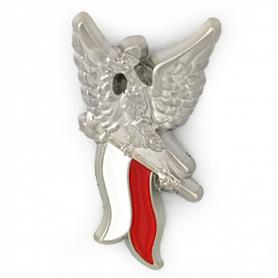 Przypinka, pin orzełek na fladze