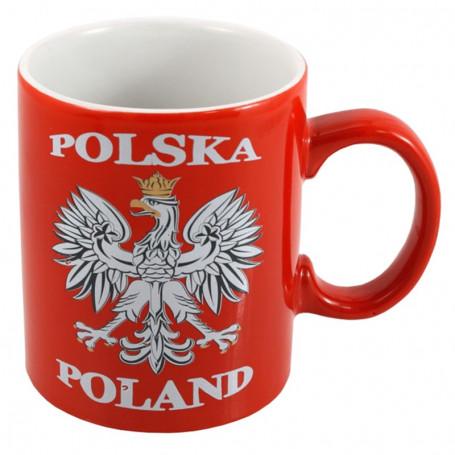 Piros Lengyelország bögre
