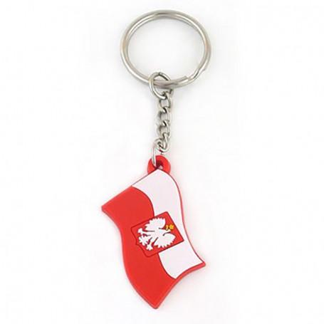 Porte-clés en caoutchouc - drapeau polonais