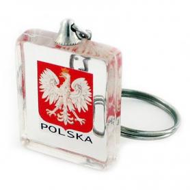 Schlüsselanhänger aus Acryl-Würfel, Polen