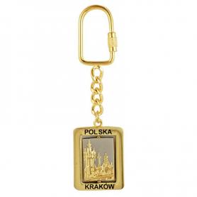 Schlüsselanhänger aus Metall, drehbar, Krakau