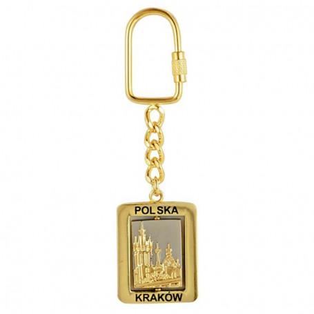 Porte-clés en métal, rotatif, Cracovie