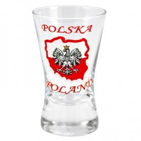 Shot glass X - shape of Poland 40 ml