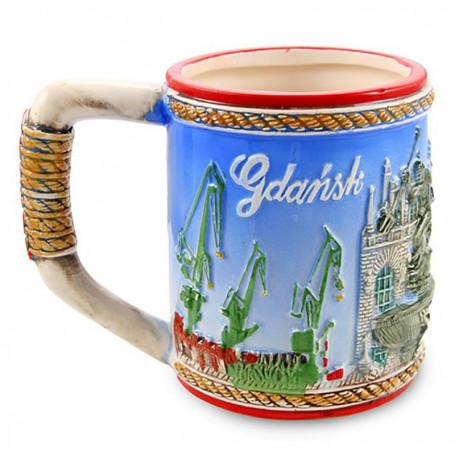 Glazuotas puodelis Gdańsk