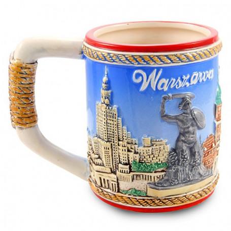 Una taza esmaltada Varsovia