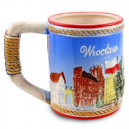 Glasierter Becher Wroclaw