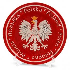 Kleine Keramikplatte Polen