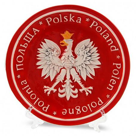 Talerz ceramiczny mały Polska