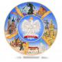 Talerz ceramiczny duży Polska - miasta