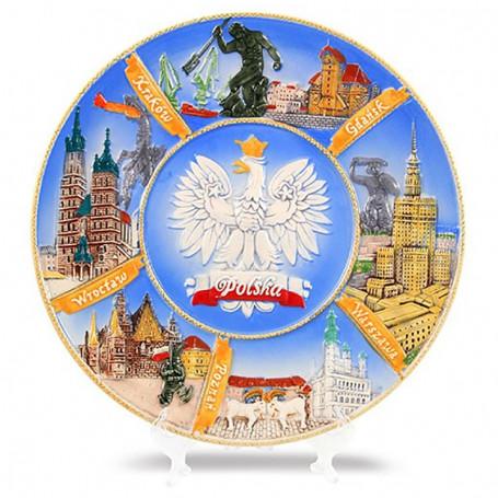 Keramine plokšte didele Lenkija - miestas