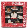 Plato de cerámica medio Polonia - ciudades