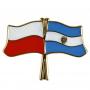 Drapeau des boutons de la Pologne et de l'Argentine