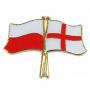 Drapeau des boutons de la Pologne et de l'Angleterre