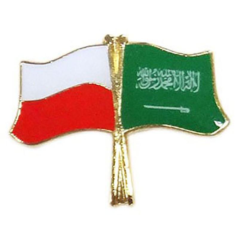 Przypinka flaga Polska-Arabia Saudyjska