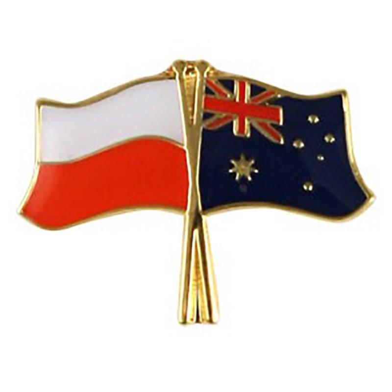 Drapeau des boutons de la Pologne et de l'Australie