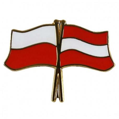 Przypinka, pin flaga Polska-Austria
