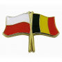 Przypinka flaga Polska-Belgia