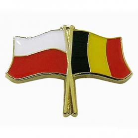 Przypinka, pin flaga Polska-Belgia