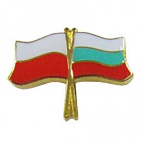 Przypinka, pin flaga Polska-Bułgaria