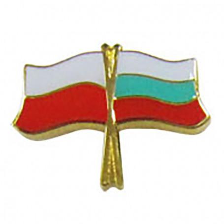 Botones de la bandera de Polonia y Bulgaria