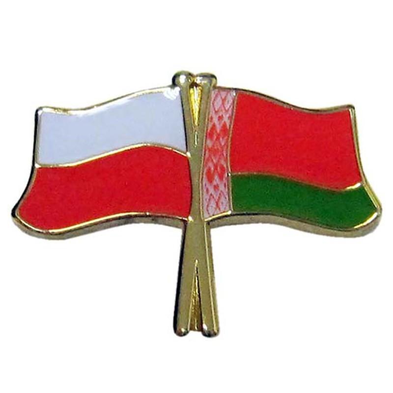 Boutons du drapeau de la Pologne et de la Biélorussie