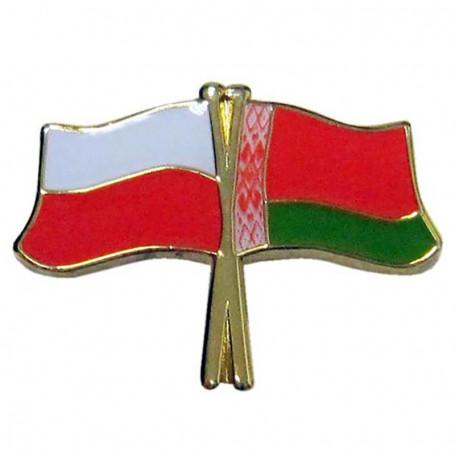 Botones de la bandera de Polonia y Bielorrusia