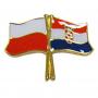 Przypinka, pin flaga Polska-Chorwacja