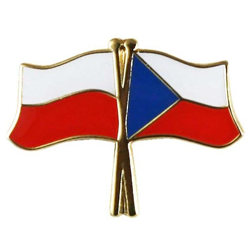 Bouton drapeau Pologne-République tcheque