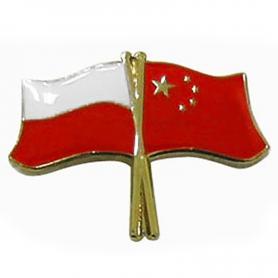 Przypinka, pin flaga Polska-Chiny