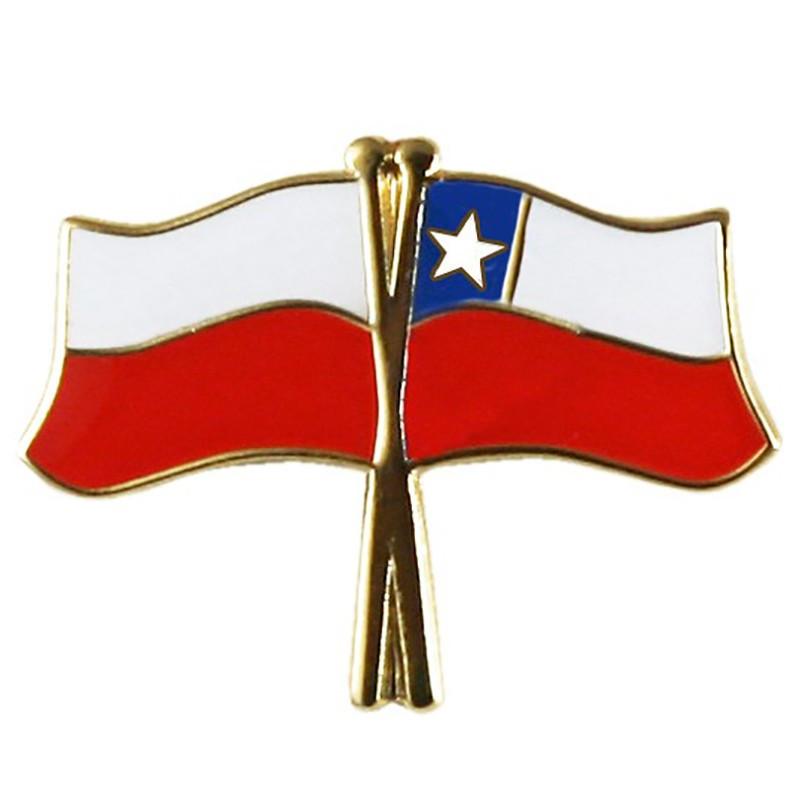 Botón de bandera Polonia-Chile
