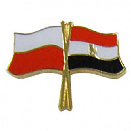Botón de la bandera de Polonia-Egipto