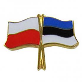 Przypinka, pin flaga Polska-Estonia
