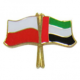 Botones, bandera pin Polonia-Emiratos Árabes Unidos