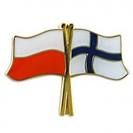 Botón de bandera Polonia-Finlandia