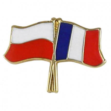 Drapeau des boutons de la Pologne et de la France