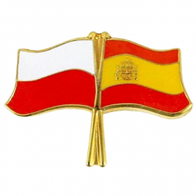 Pin, drapeau drapeau Pologne-Espagne