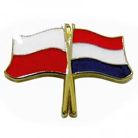 Botones, pin la bandera de Polonia y los Países Bajos